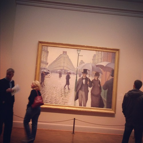 "Gustave Caillebotte's ""Paris Street; Rainy Day"" at The Art Institute of Chicago"