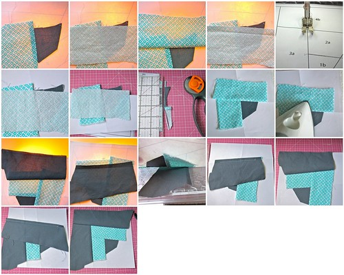 Paper Piecing Tutorial: Piecing, process mosaic