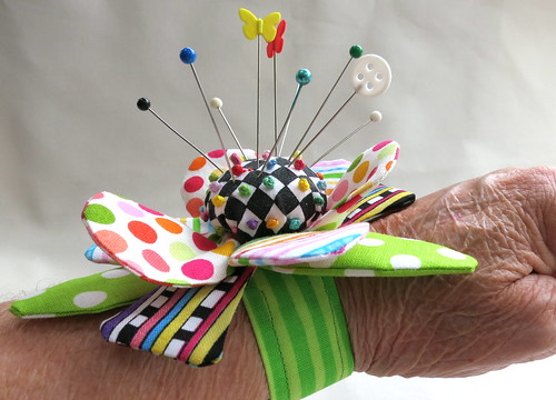Side view of wrist pincushion
