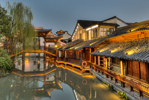 china old water reflections town ancient asia village chinese scenic historic east yangtze 中国 wuzhen hdr zhejiang 乌镇 tongxiang