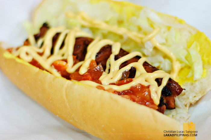 Hungarian Sausage at Papa Rock's Burger in Marikina