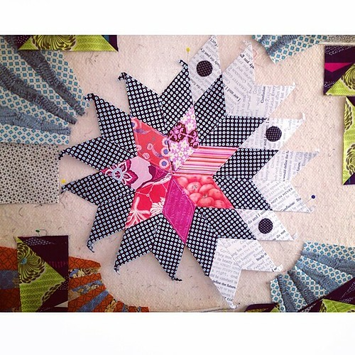 #patchwork sunday! #epp #sevenpointstar #sew #sewing