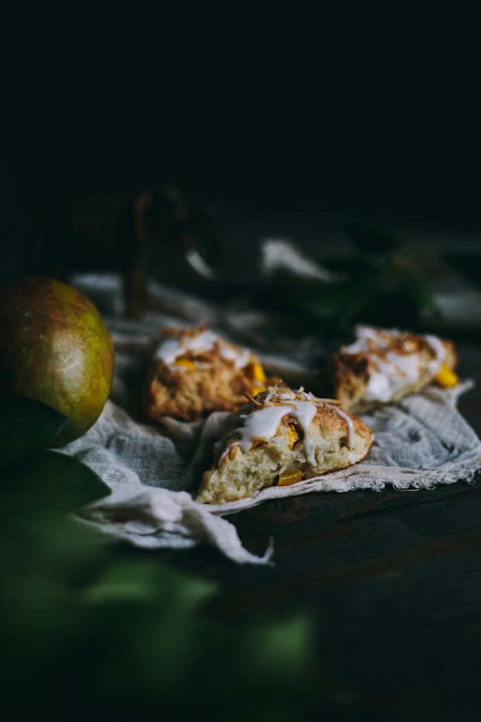 Mango Coconut Scones {Vegan} - Adventures in Cooking