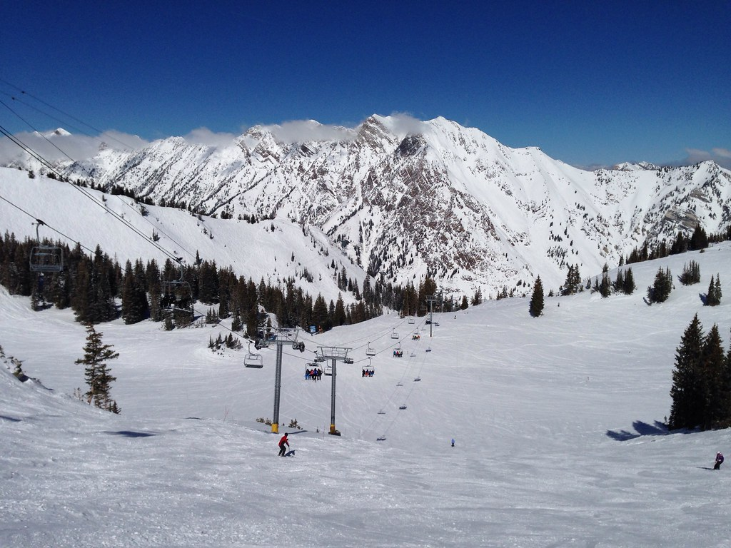 Skiing in Peruvian Gulch
