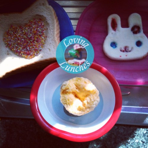 Loving a special request for #easter breakfast… miss m asked for a park sandwich- aka sprinkles on top. She also got a steamed egg white bunny and Honey had steamed doubled yolk scrambled egg. Have you entered to #win your own @kambrookau Quatro multi coo
