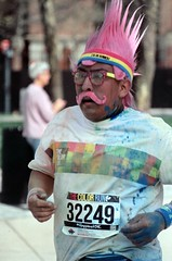 "Participant at the end of ""The Color Run"""
