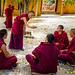 Debating Monks - Ganden Monastery, Tibet