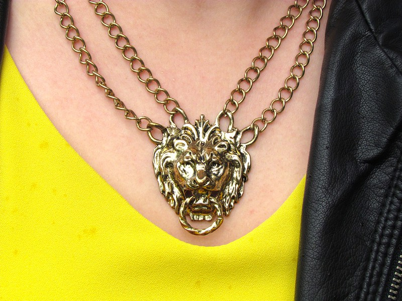 Ever Ours lion head necklace