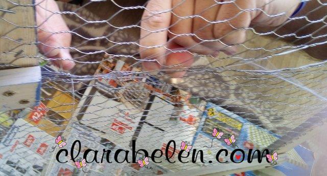 Marco organizador de fotos con malla de gallinero