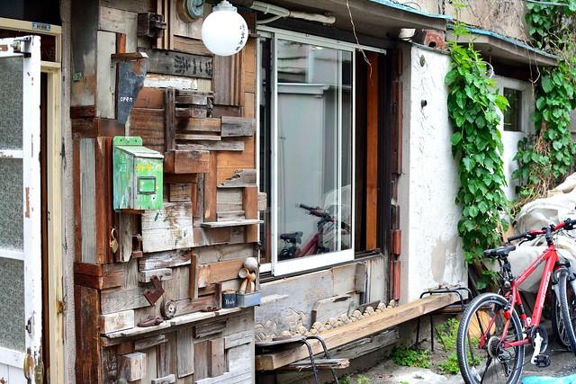 北千住の古民家カフェ・傳吉商店の外観