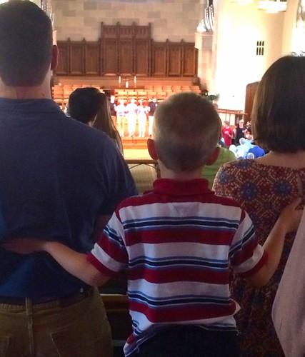 kid at youth worship