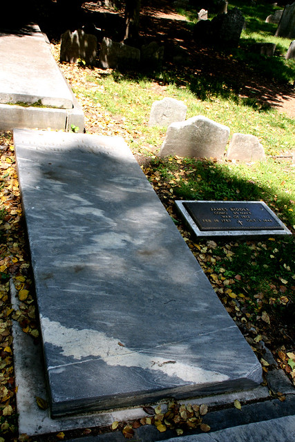 Grave of James Biddle, US Navy Commodore War of 1812,   Christ Church Burial Grounds, Philadelphia