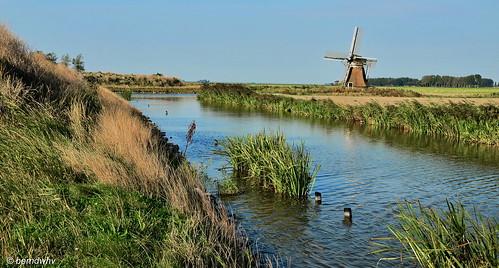 Niederlande / Provinz Fryslan / Oude Leije / Balkensterpoldermolen / Baujahr: 1844