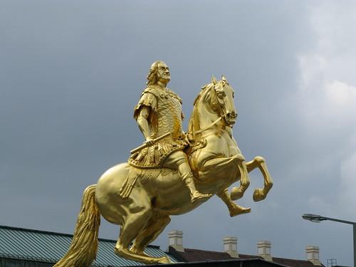 Golden Rider, Equestrian Statue