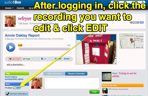 AudioBoo Comment Moderation - Step 1