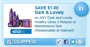 Dark And Lovely Healthy Gloss 5 Relaxer Or Maintenance Item (redeemable At Walmart) Coupon