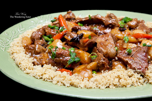 Chinese-style lamb stew with quinoa