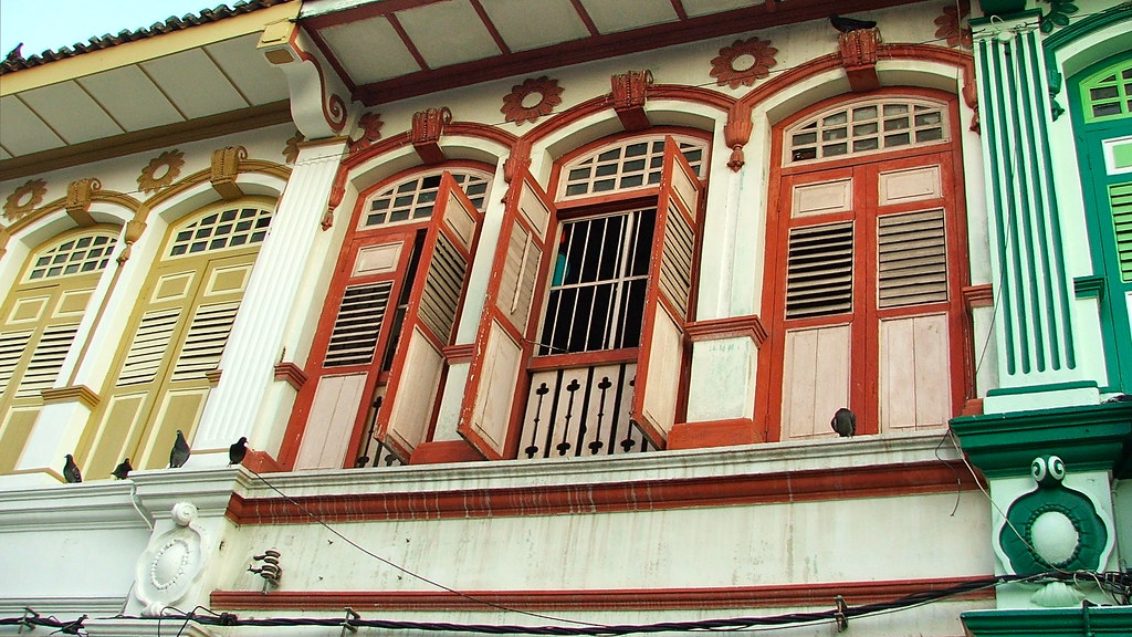 restored Penang shophouses