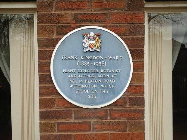 Photo of Frank Kingdon-Ward blue plaque