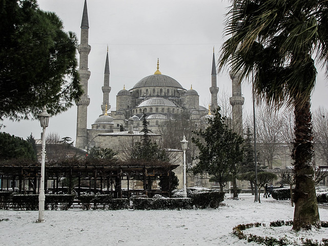 Sultan Ahmed Mosque in the Snow