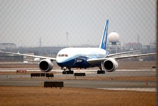 Boeing 787 Dreamliner arrival in Toronto