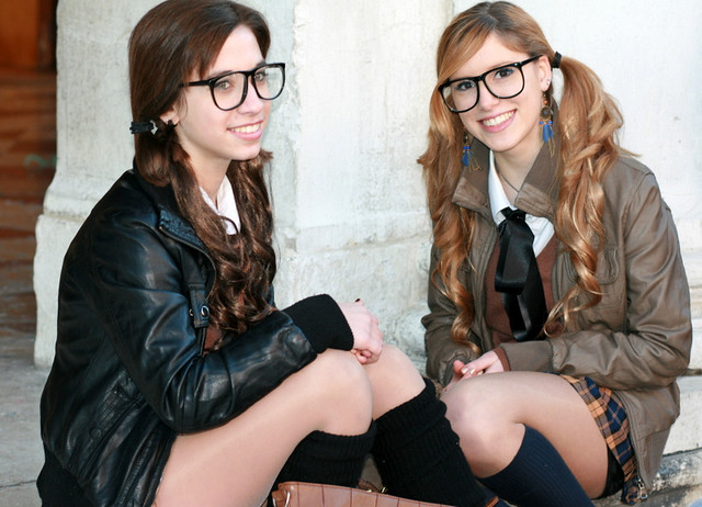Schoolgirls in Italy