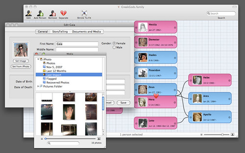Family Screenshot - Grid and Photo Management