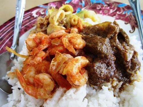 ChoonSeng nasi campur - shrimps