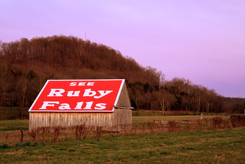 See Ruby Falls Barn at Dusk