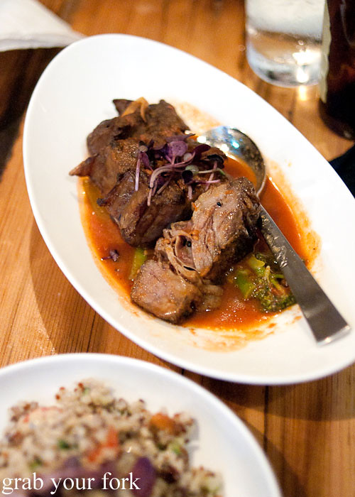 beef short ribs at assembly bar