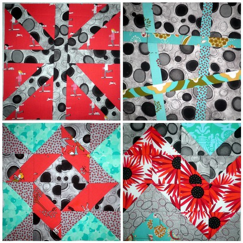 Craftsy Block of the Month - Blocks 1 through 4
