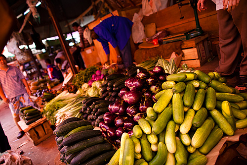 Dharajani market in Stone Town