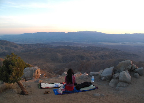Meditating over the desert