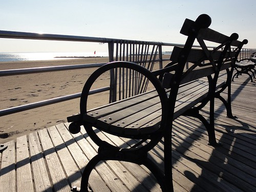 Coney Island Boardwalk Bench