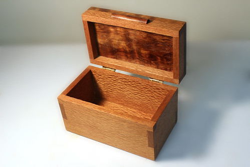 Lacewood and Bubinga Box - open