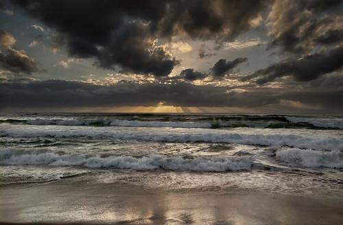 無料写真素材, 自然風景, 海, ビーチ・海岸, 朝焼け・夕焼け, 雲, 風景  オーストラリア