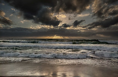 [フリー画像素材] 自然風景, 海, ビーチ・海岸, 朝焼け・夕焼け, 雲, 風景 - オーストラリア ID:201205042000