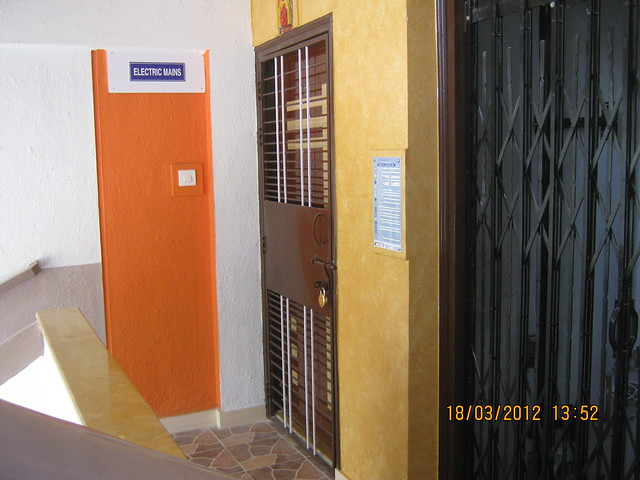 M S Safety Door of a flat & floor lobby of Sanjeevani Developers' Ashtagandh Phase 2, Baner Road Pune 411007