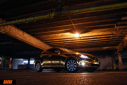 Gold Lexus by Wrapup co. Chicago