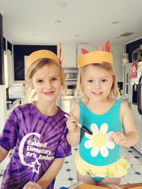 mazzy and sassy making hats