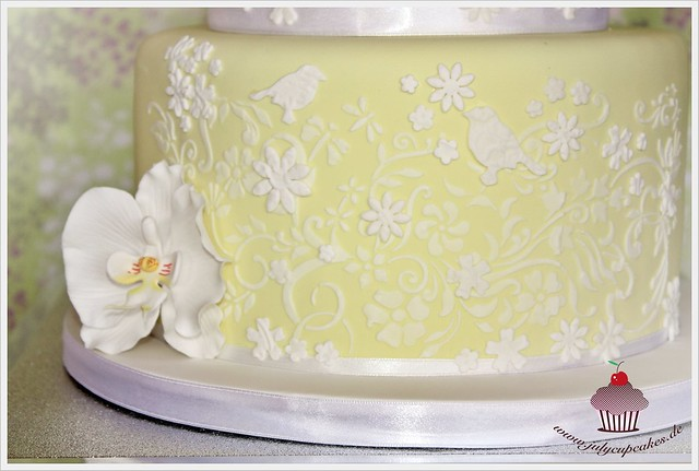 spring wedding cake nature 39 s vignette stencil flickr photo sharing. Black Bedroom Furniture Sets. Home Design Ideas