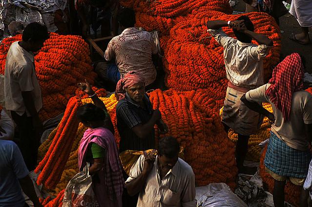Kolkata. Flower market