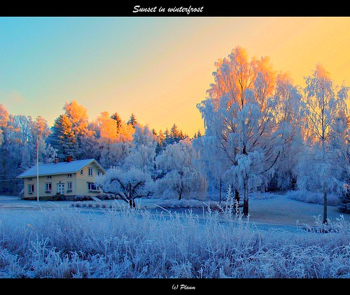 Sunset in winterfrost