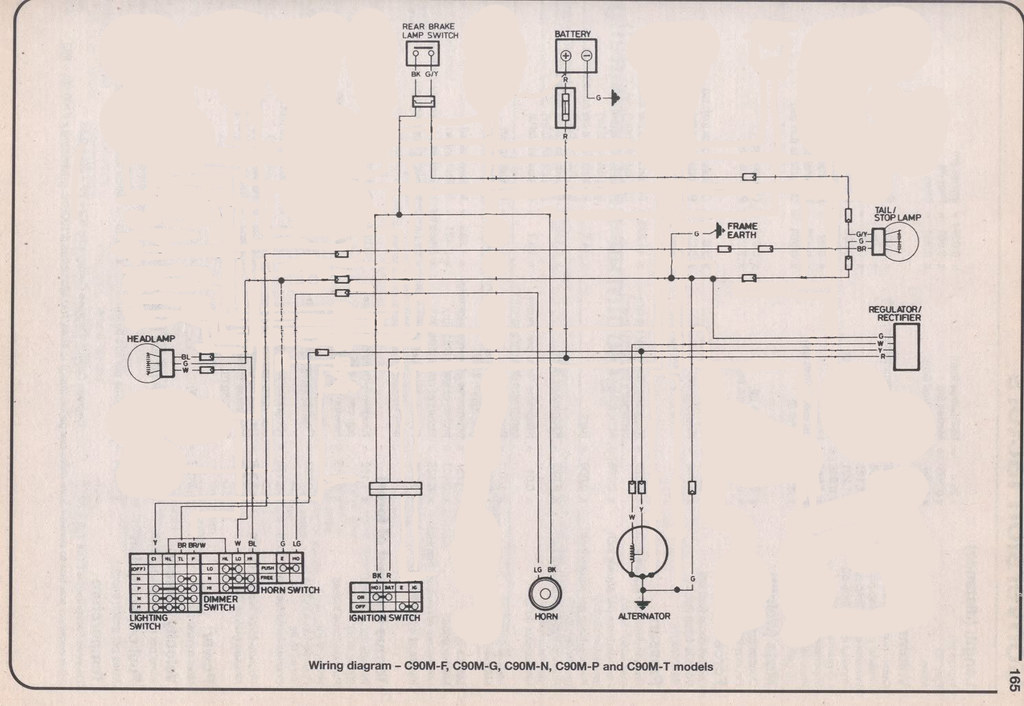 C90 Simplified Wiring Diagram  For Lights