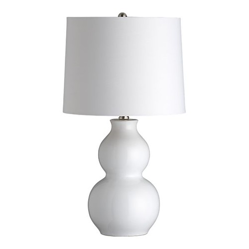 Zing White Table Lamp Crate and Barrel