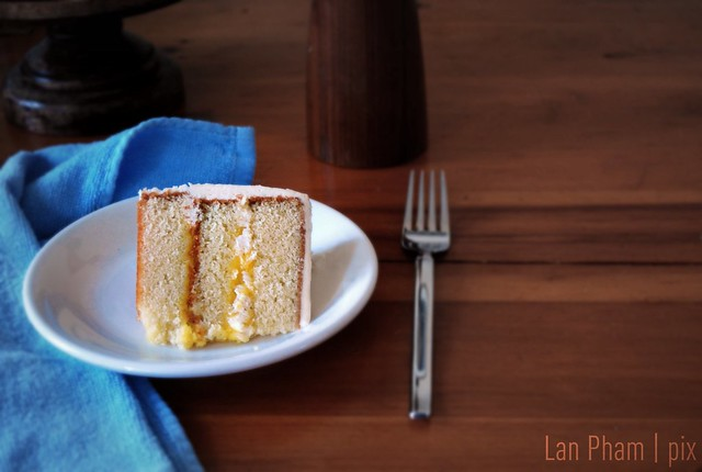 Hot Milk Cake + Meyer Lemon Curd