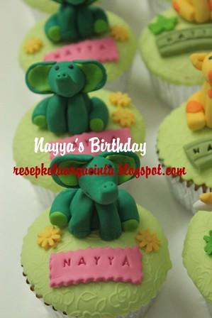 Nayya's birthday cupcake