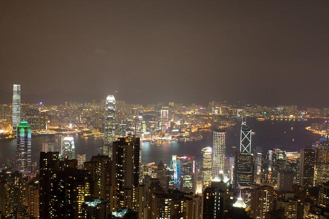 太平山顶看维港夜景