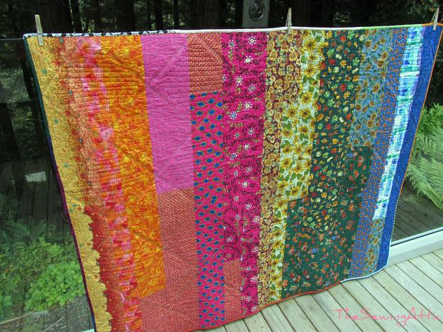 String quilt, back of quilt