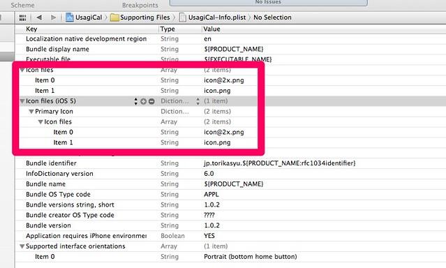 UsagiCal.xcodeproj — UsagiCal-Info.plist